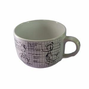Disney Donald Duck Sketchbook Large Soup Mug